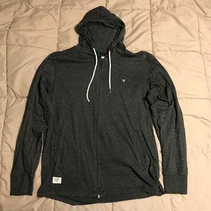 Five Four Dark Gray Full-Zip Hoodie, Size L